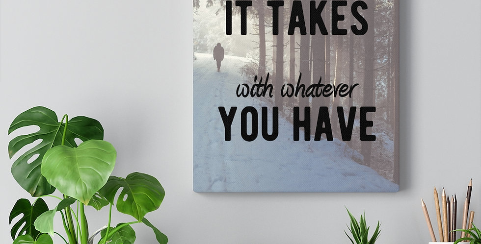 Bold and inspiring motivational canvas prints