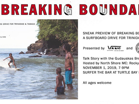 Breaking Boundaries - A surfboard drive for Trinidad & Tobago