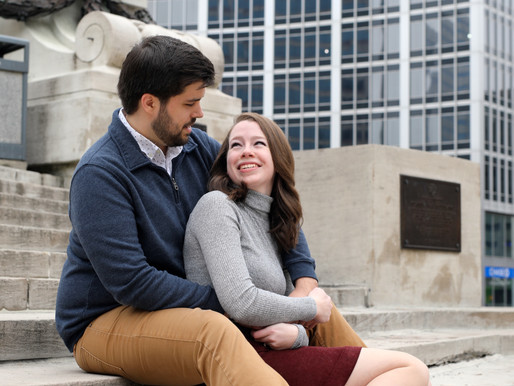 Katie and Richard | Monument Circle | Indianapolis, IN
