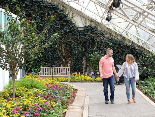 Keirsten and Andrew | Botanical Gardens | Fort Wayne, Indiana