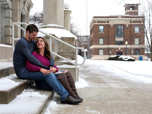 Nick and Kelsey | Downtown Auburn | Auburn, Indiana