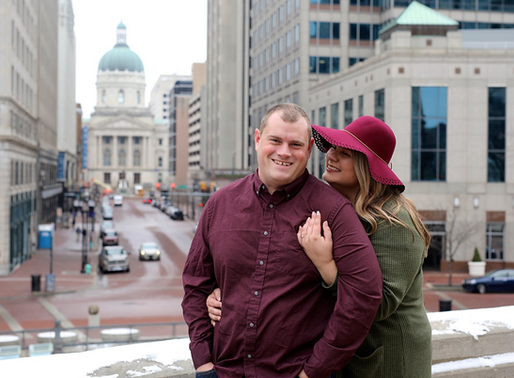 Victoria and Nathan | Monument Circle | Indianapolis, Indiana