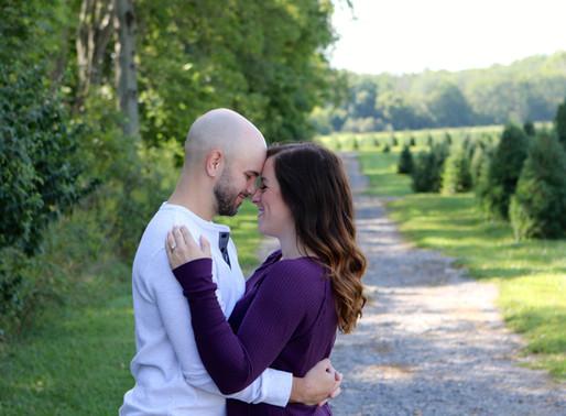 Kara and Zach   Dulls Tree Farm   Thorntown, Indiana