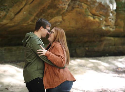 Abigail and Jonathon   Cedar Falls   Hocking Hills, Ohio