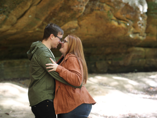 Abigail and Jonathon | Cedar Falls | Hocking Hills, Ohio
