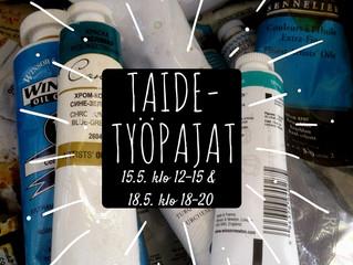 Maksuttomat taidetyöpajat Louhella 15.5. ja 18.5.