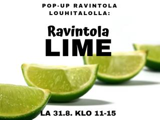 Ravintola Lime Louhitalolla 31.8. klo 11-15