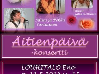 Äitienpäivä -konsertti Louhitalolla 11.5.