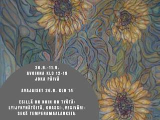 """Jorma Riikosen """"Vanhaa ja uutta"""" -taidenäyttely 26.8.-11.9."""