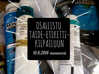 Osallistu taide-etikettikilpailuun 10.6.2016 mennessä