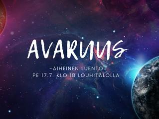 Avaruus -aiheinen luento pe 17.7. klo 18 Louhitalolla
