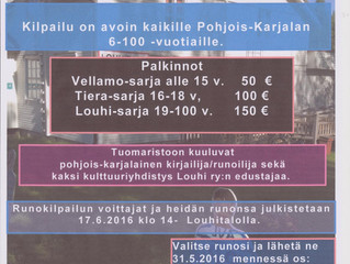 Vielä ehdit: osallistu runokilpailuun 31.5. mennessä!