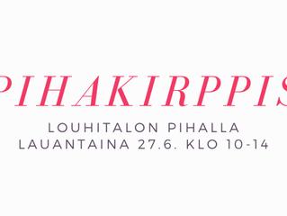 Kirpputori Louhitalon pihalla la 27.6. klo 10-14