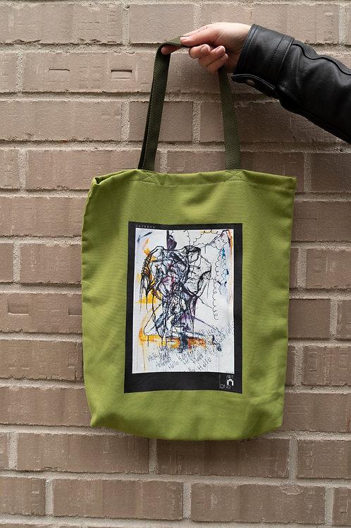 Handgemachte Tasche Mit Print