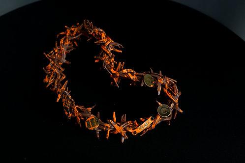 Dornenkranz mit orangenfarbenen Stacheln