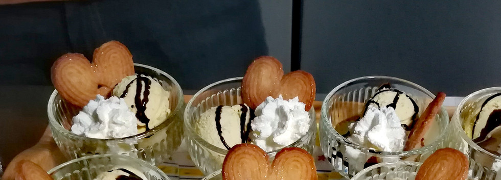Boules vanille nappée de chocolat