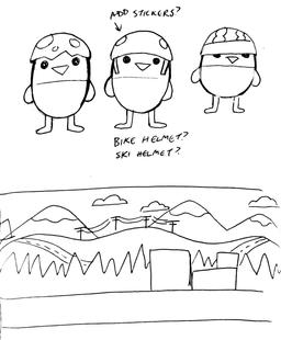 Sketch: Baby Birds