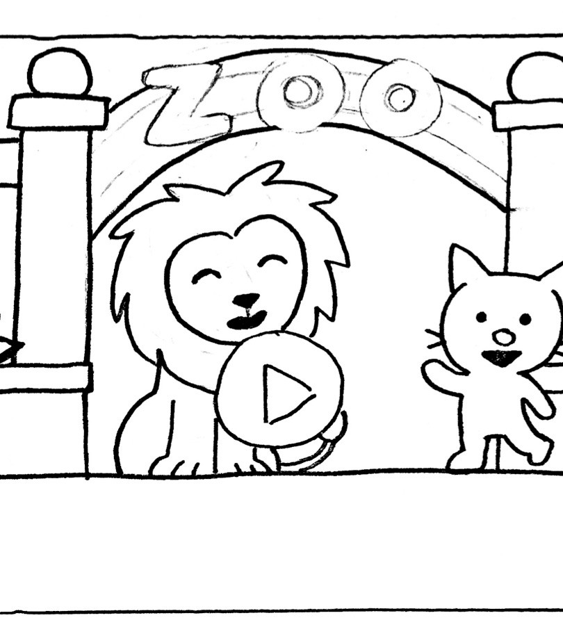 Zoo: Title Screen Sketch
