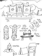 Trains: Campground Sketch