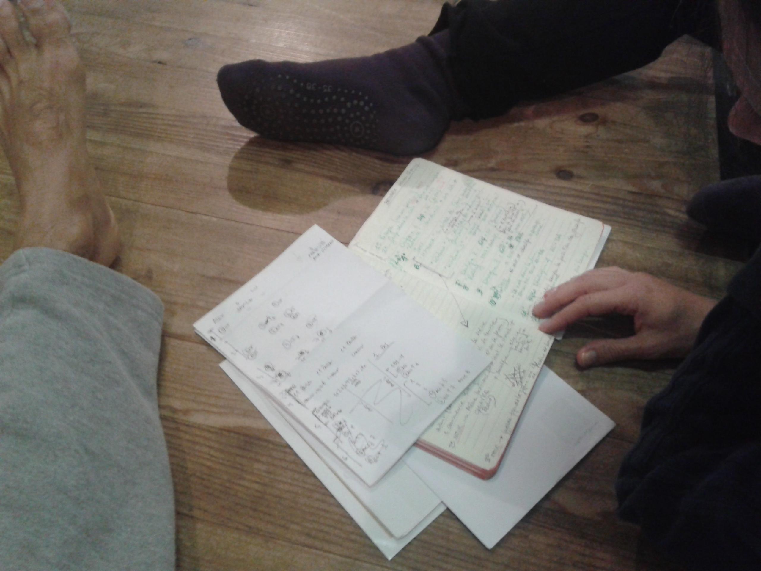 Des pieds et des papiers