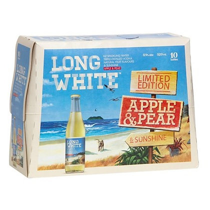 LONG WHITE APPLE & PEAR 10PK BTLS