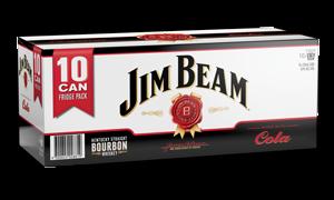 JIM BEAM 10PK CAN ZERO & COLA