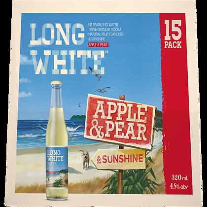 Long White Apple & Pear 15Pk Bottles