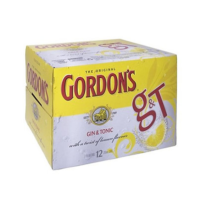 GORDON'S 12PK CANS 250ML