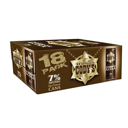 CODYS 7% 18PK 250ML CANS