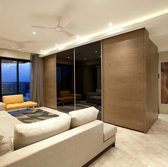 Warm minimal apartment