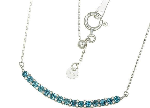 Blue Diamond Smile Necklace | My Garden