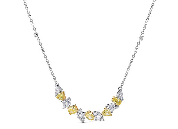 Fancy Yellow Diamond Smile Necklace   My Garden