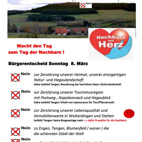 Flyer - Bürgerentscheid am 08. März 2020