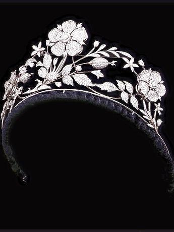 Diamond Floral Tiara