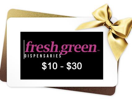 Gift Card Giveaway: $10 to $30 at fresh.green Dispensaries Lee's Summit & Waldo