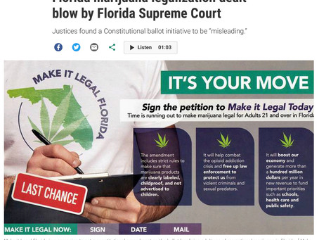 Florida Supreme Court Knocks Down Legalization Vote