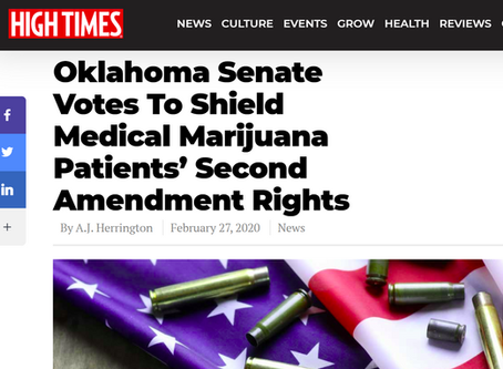 "Guns and Cannabis are ""OK"" in OK - If Senate Bill 959 is Approved"