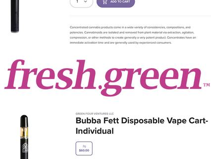 BOGO Pre-Rolls* | 4 New Flower Strains | Vapes at fresh.green Dispensaries