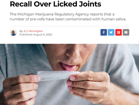 Cannabis Joints: Product Recall - Pass Pass What!?