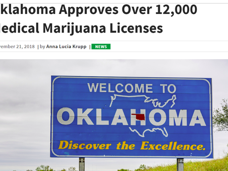 Oklahoma Approves Over 12,000 Medical Marijuana Patients