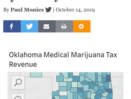 Chart: OK Medical marijuana generated more than $34.5 million in tax revenue through the end of Sept