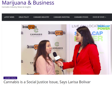 As Seen on Marijuana Business with Larisa Bolivar
