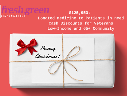 $125,953: Donations, Discounts, and Christmas Hours @ fresh.green - Merry Christmas!