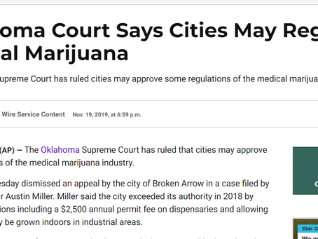 Oklahoma: Cities May Regulate Medical Marijuana via Planning and Zoning