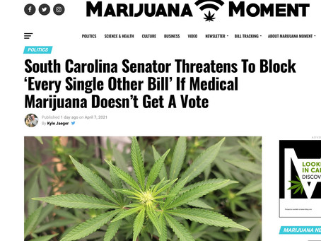 SC: If You Don't Pass My Medical Marijuana Bill - Senator Threatens to Block All Bills!
