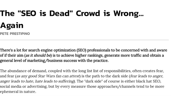 "The ""SEO is Dead"" Crowd is Wrong... Again"