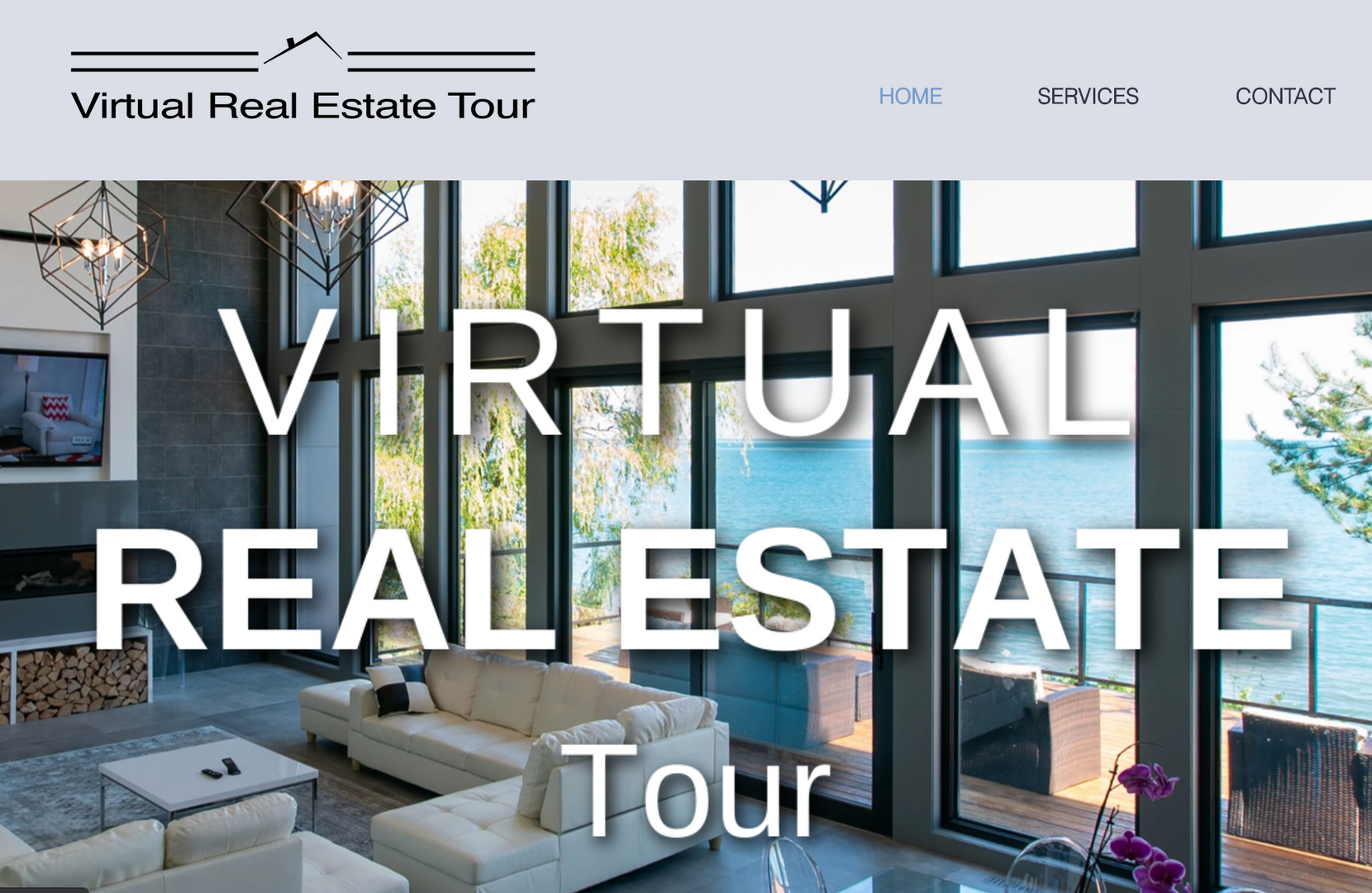 Homepage for Virtual Real Estate Tour