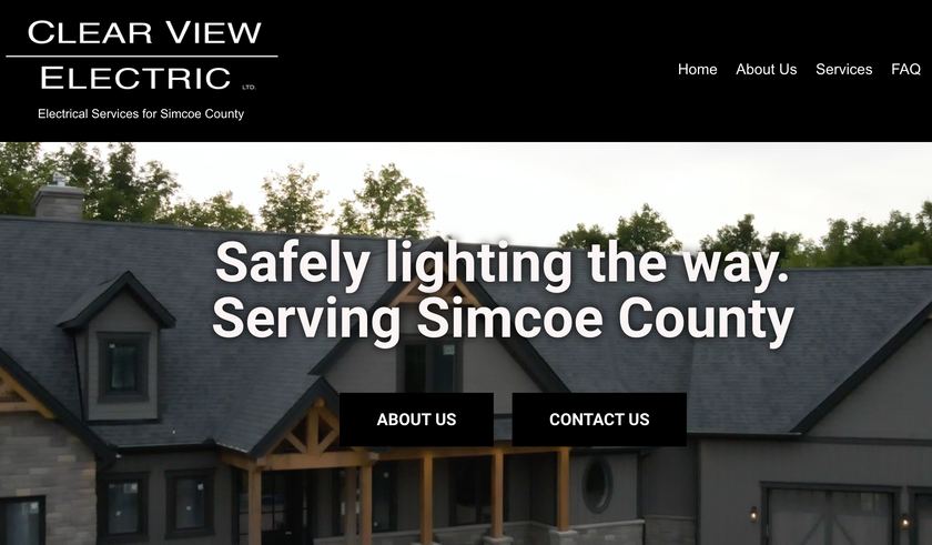 Homepage for Clear View Electric
