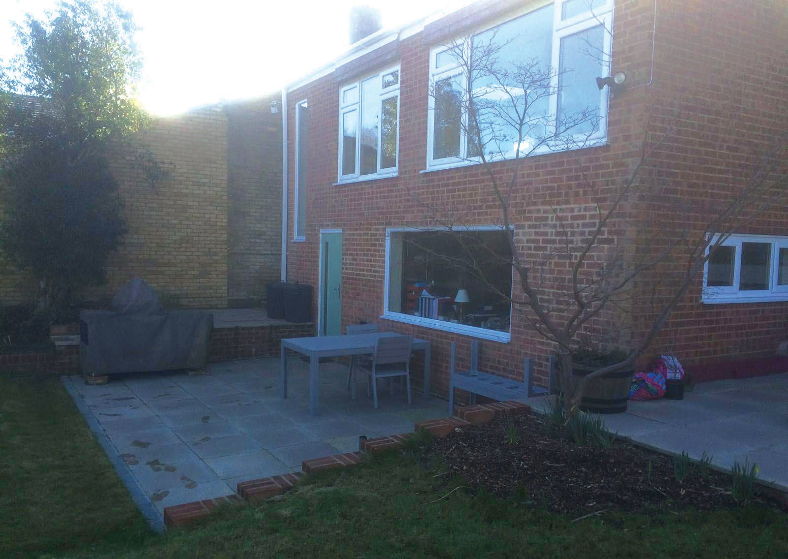 Structural reconfiguration and patio