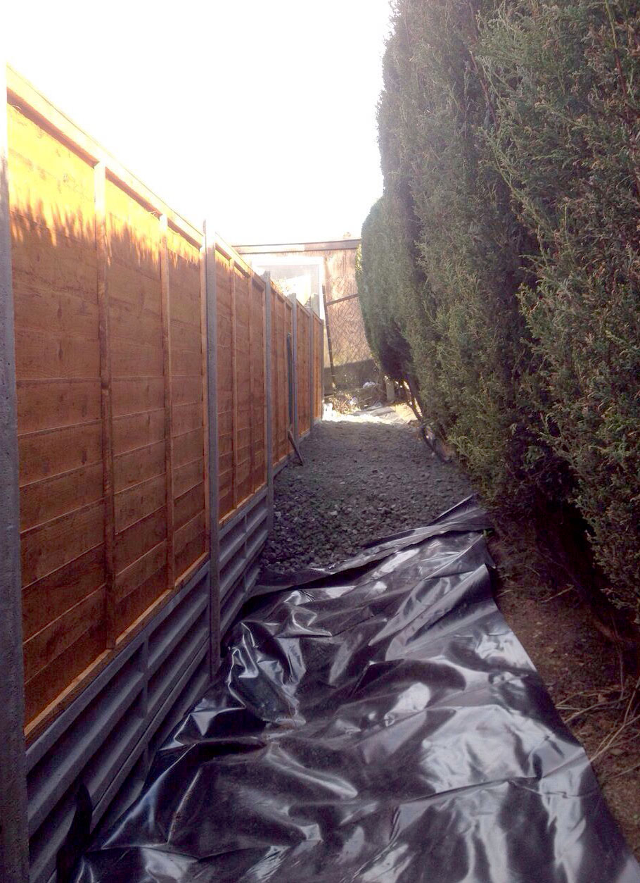 Fencing and pathway